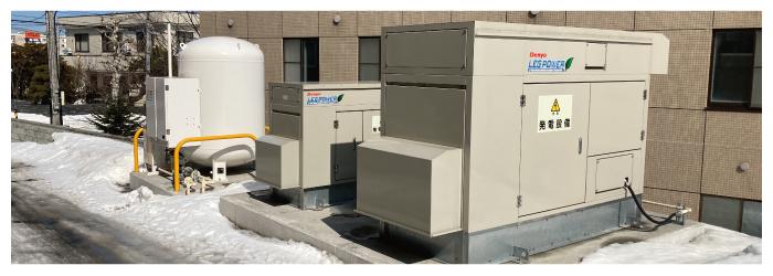安暖手西宮の沢 一般停電用予備発電機